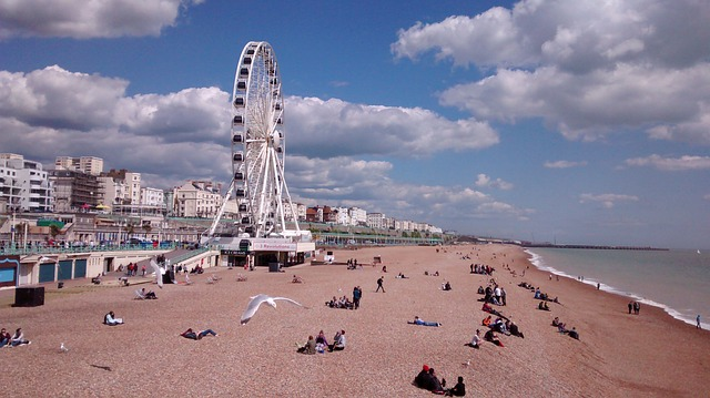 Free brighton beach sea uk england pier brighton eye