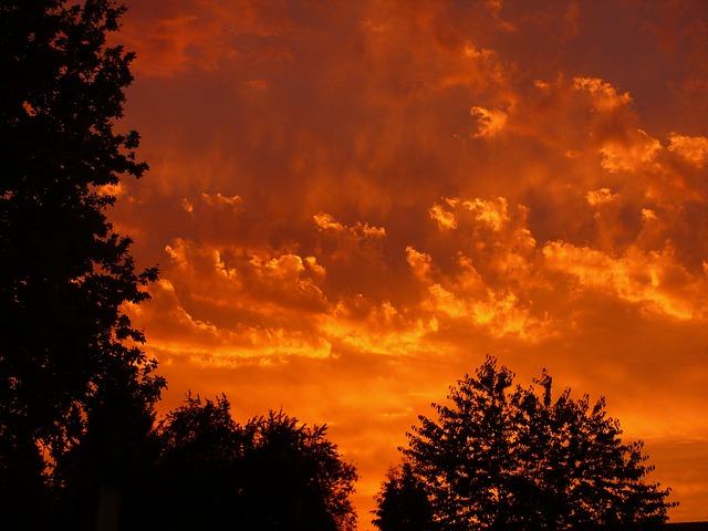 Free               sunset red clouds sky evening evening sky