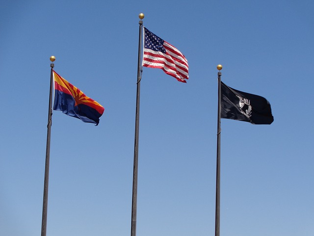 Free flag arizona american waving usa symbol memorial