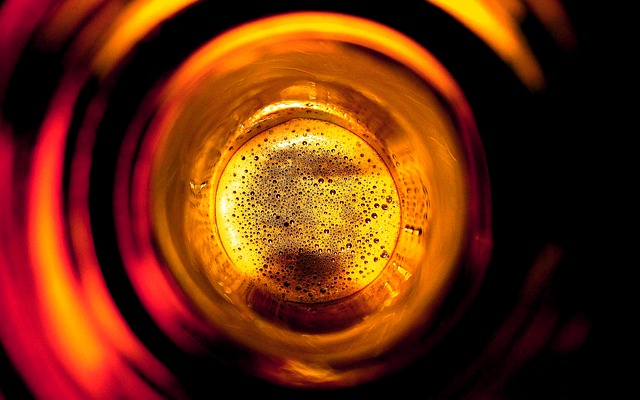 Free beer bottle from the inside beer abstract drink