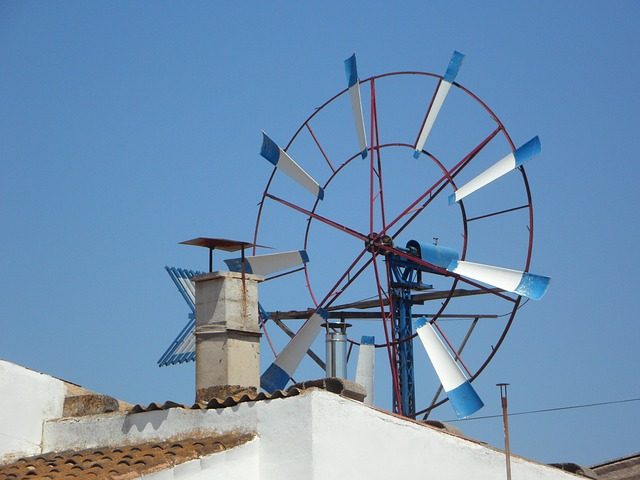 Free pinwheel metal wheel wind wind energy energy blue