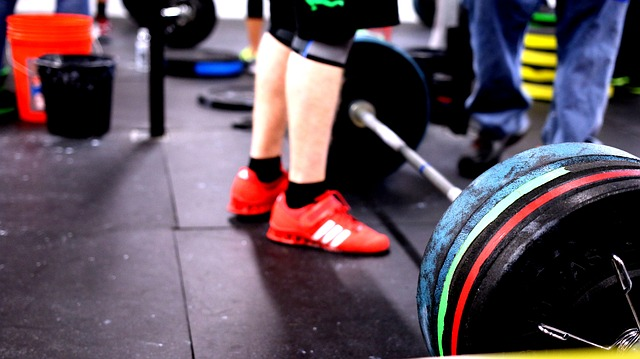 Free barbell crossfit lifting gym fitness exercise