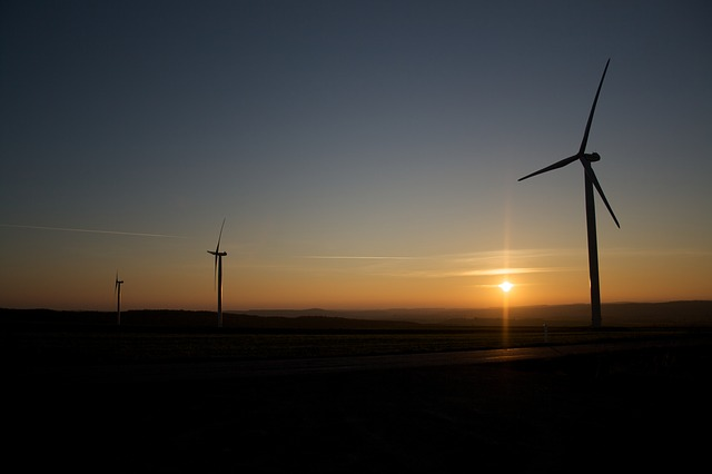 Free pinwheel windräder sunset energy wind power sky
