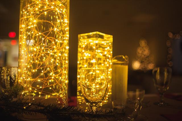 Free glas lamp lights decoration yellow