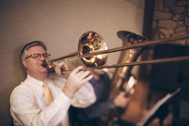 Free trombonistbrass man person band music trombone