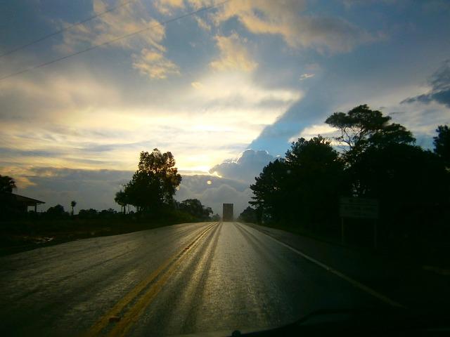 Free sky clouds rain road