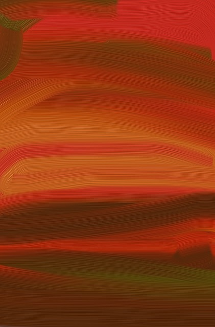 Free painting abstract abstract painting red design