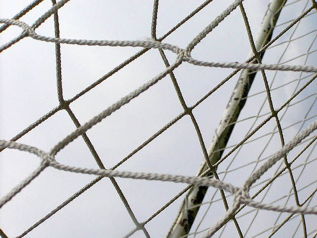 Free network rope entwined barrier football