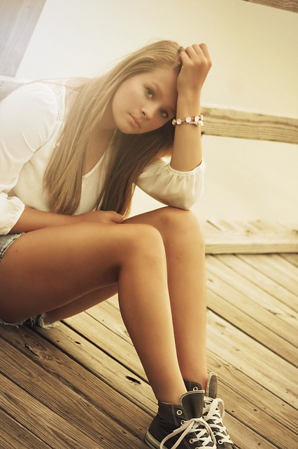 Free girl teenager young beautiful teen expression sad