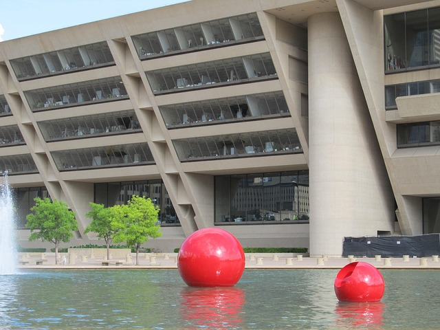 Free city hall dallas texas plaza pond pool