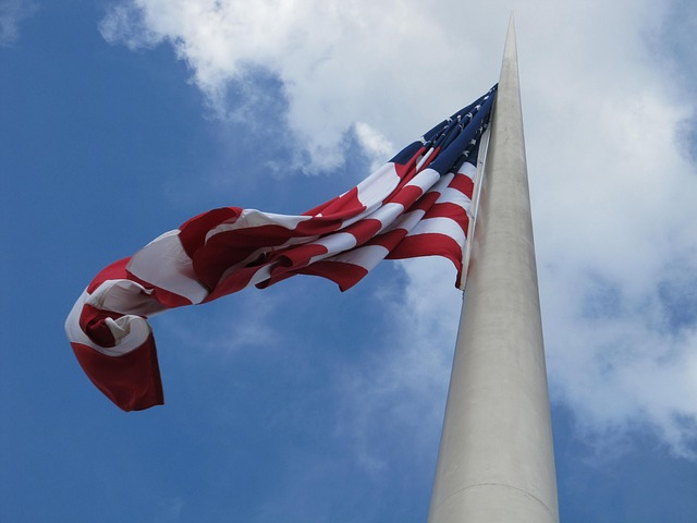 Free american flag flapping fluttering patriotism