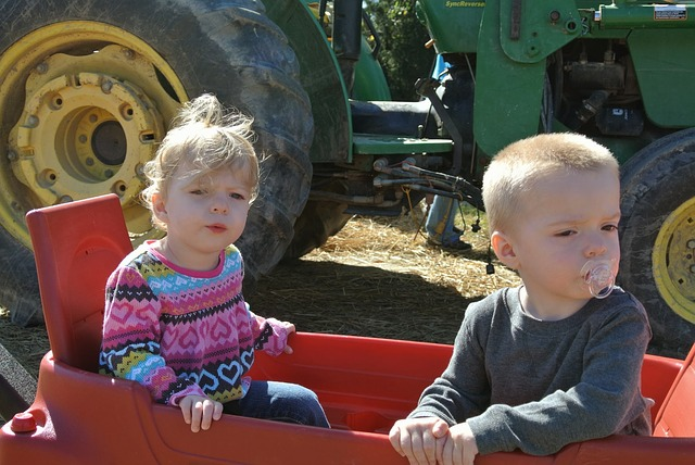 Free farm kids tractor country children rural harvest