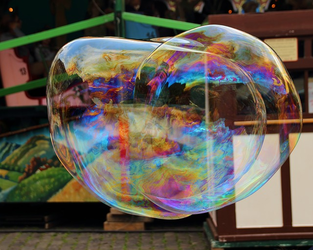Free soap bubble soap bubbles giant bubble colorful