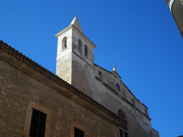 Free cityscape manacor facades church steeple