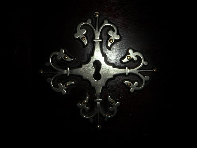 Free fitting key hole old door door lock closed