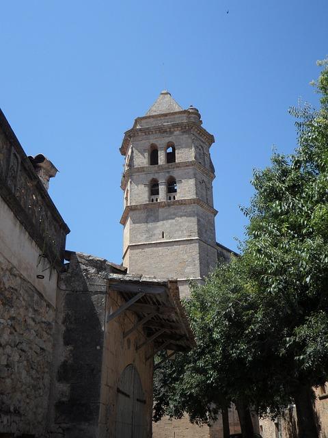 Free tower steeple mediterranean church building great