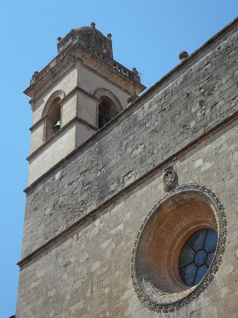 Free Photos: Church steeple petra mallorca trutzig monumental | M W