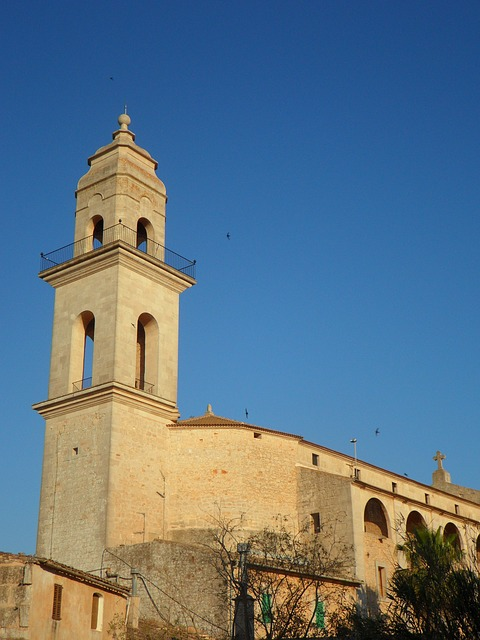 Free church steeple mallorca religion christianity