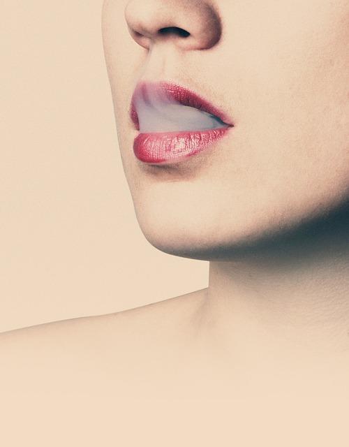 Free               lips smoke female woman face beautiful cigarette