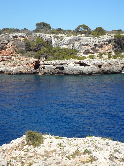 Free booked maritime rock mallorca mediterranean water