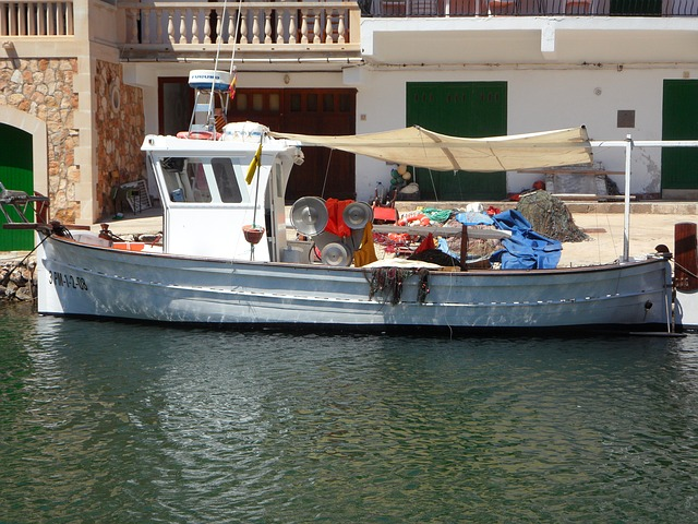 Free fishing boat port mallorca cala figuera sea