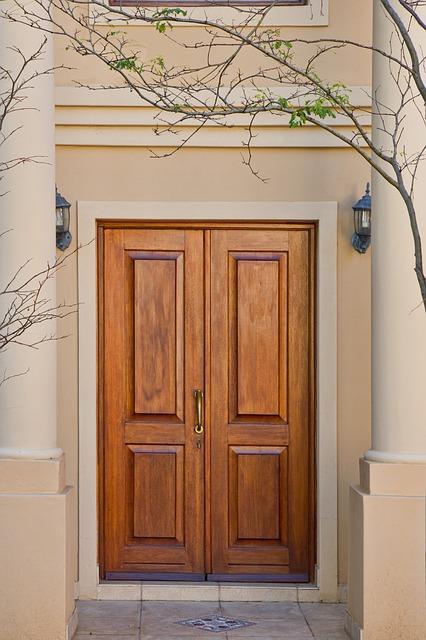 Free door brown wood real-estate home house