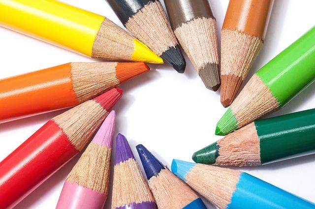 Free colored pencils colour pencils star color circle