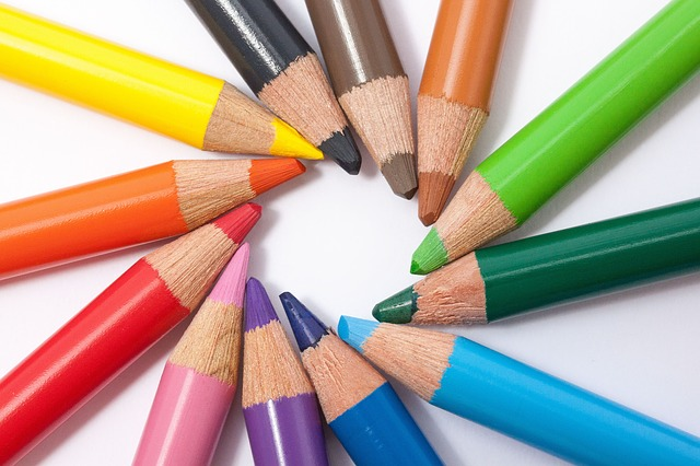 Free colored pencils colour pencils star color circle