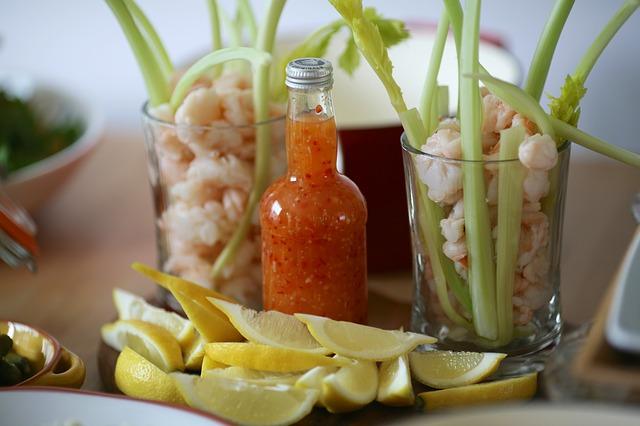 Free appetizer party food delicious lemons shrimps