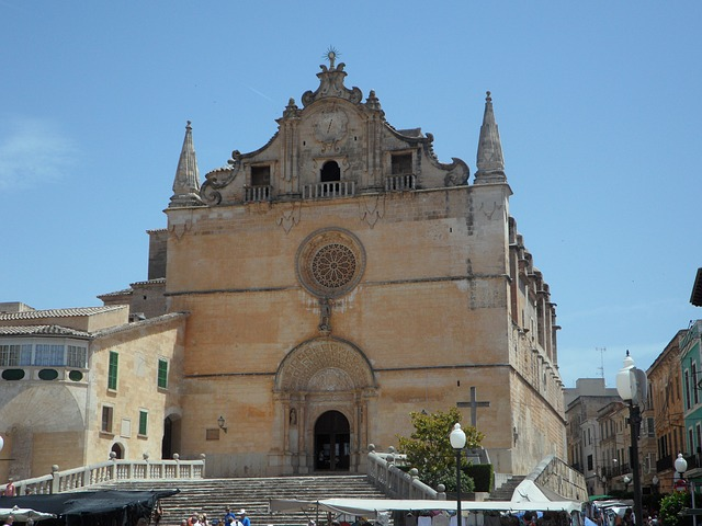 Free mallorca felanitx spain church imposing front