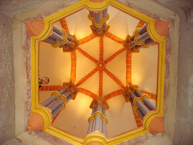 Free columnar chapel castle vianden old building