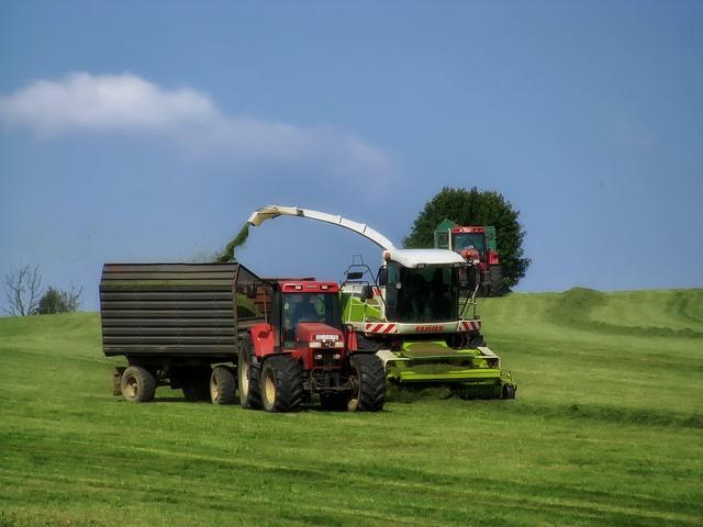 Free germany landscape scenic farm combine tractor