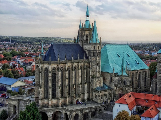 Free erfurt germany cathedral church city cities urban