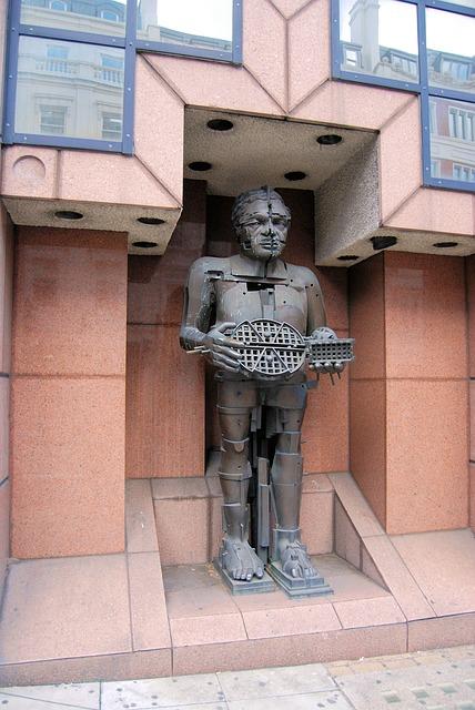 Free statue bronze eduardo paolozzi sculpture metal