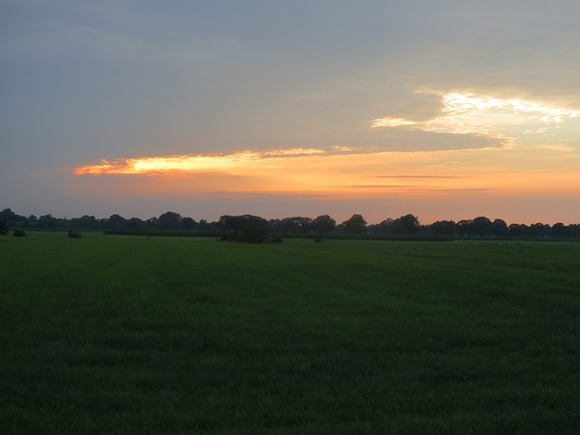 Free sunset pasture evening vista holland