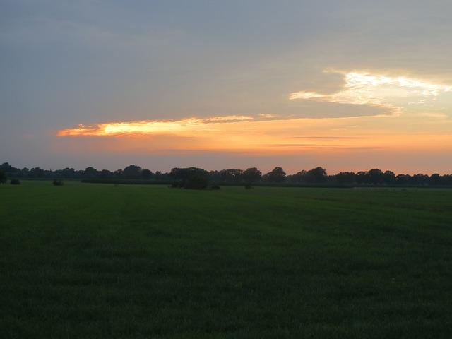 Free sunset pasture evening vista holland