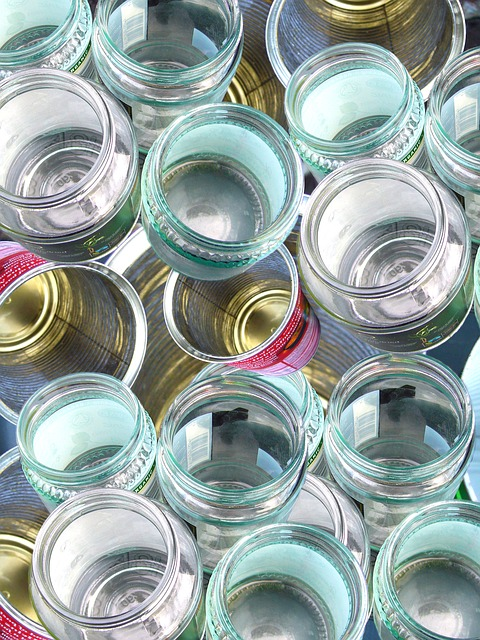 Free glass recycling cans bottles reuse container
