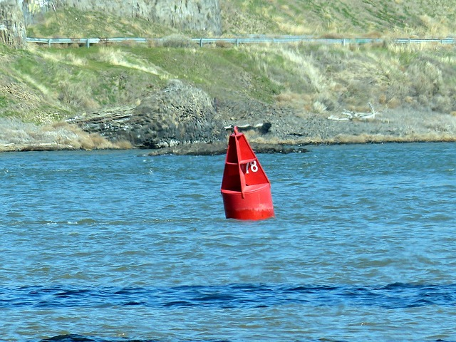 Free river buoy water blue