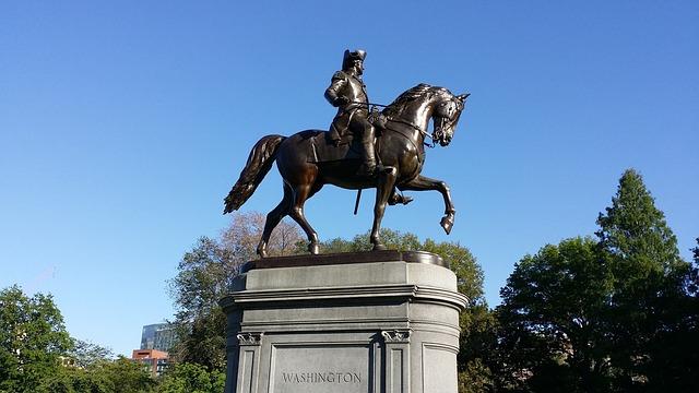 Free boston washington statue common horse landmark