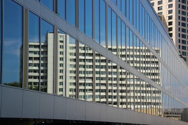 Free skyscraper building architecture mirroring
