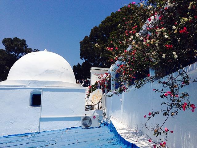 Free tunisia homes village white blue