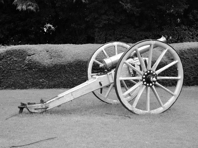 Free cannon war military history vintage antique