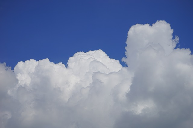 Free clouds cloud formation sky white blue cumulus