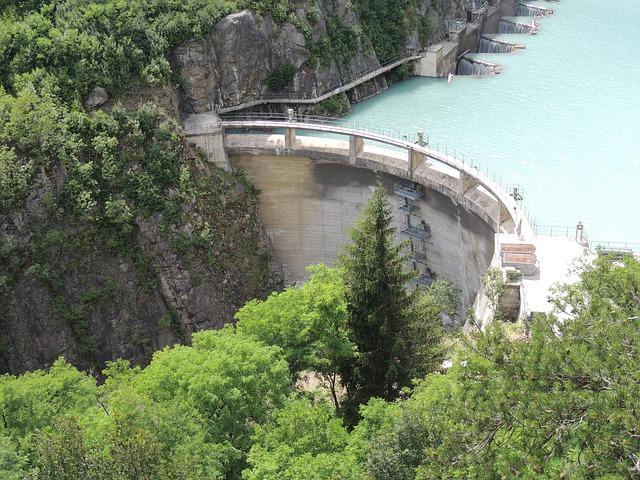 Free reservoir dam water power plant filter water level