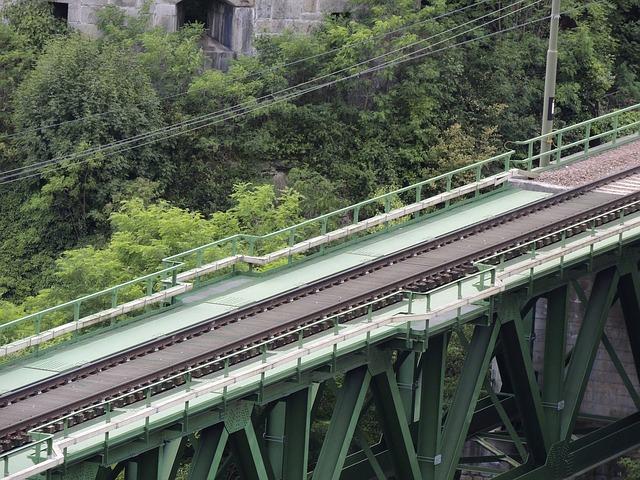 Free bridge seem transport train connection railway