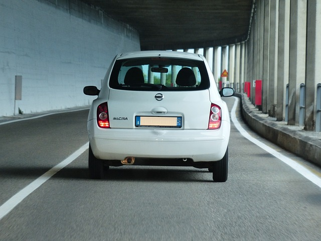 Free road auto tunnel traffic driving a car free ride