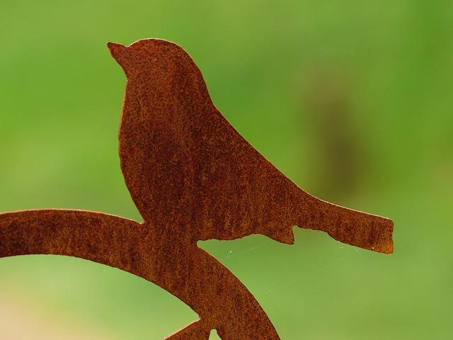 Free bird animal metal fig sheet metal figure garden