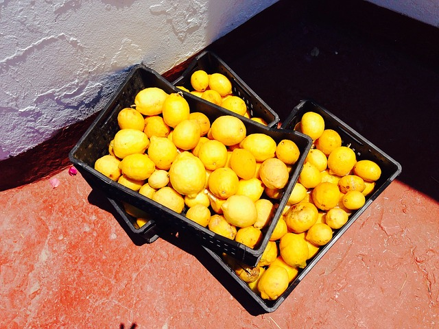 Free lemons fruit market sour food vitamins healthy