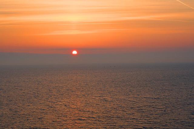 Free sunset baltic sea scharbeutz sea water coast