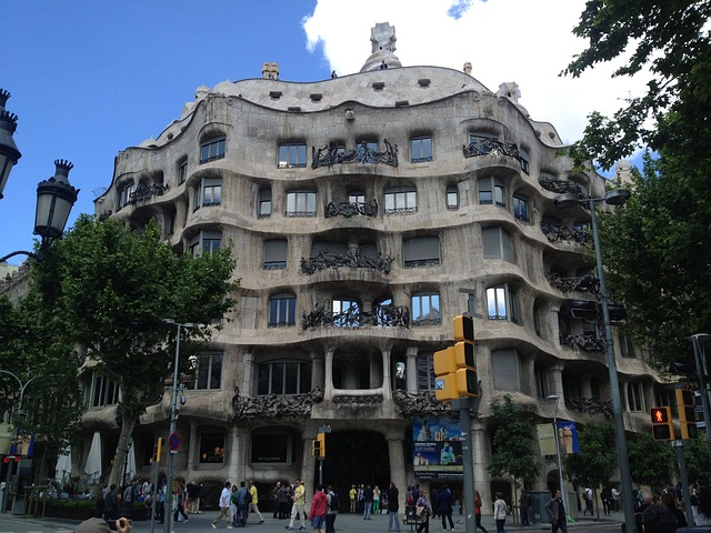 Free barcelona building gaudí architecture spain